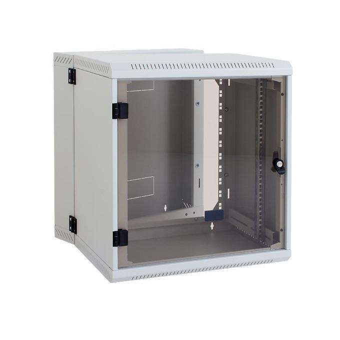 "Комуникационен шкаф Triton RBA-06-AD2, 19"", 6U, 295mm, монтаж на стена, стъклена врата image"