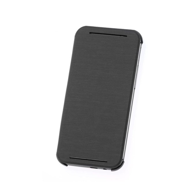 Калъф за HTC One 2 (M8), отваряем, кожен, HTC flip case, сив image