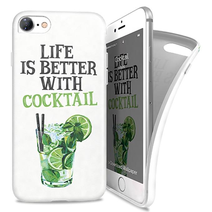 Калъф за Apple iPhone 8, термополиуретанов, iPaint Cocktail Soft 181006, щампа image