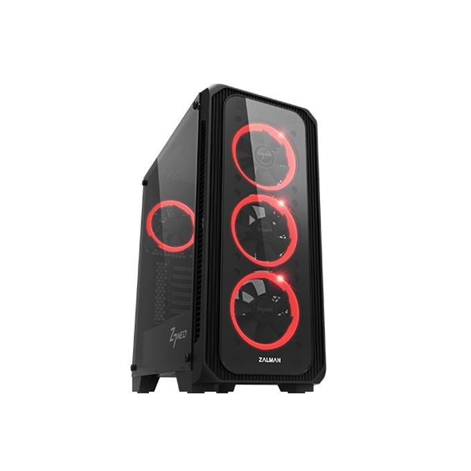 Кутия Zalman Z7 NEO, ATX, mATX, Mini-ITX, 1x USB 3.0, прозорец, RGB вентилатори, черна, без захранване image