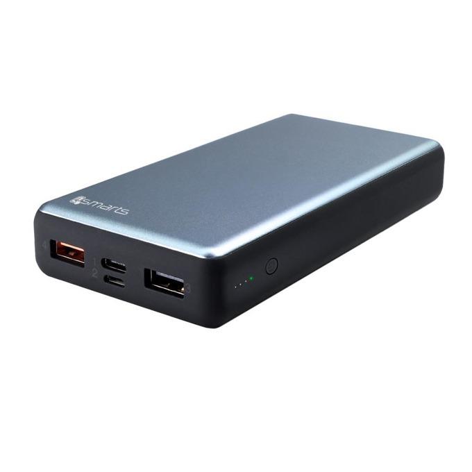 Външна батерия /power bank/ 4Smarts VoltHub, 20000mAh, 2.0A, USB Type A, USB Type C, тъмносива image