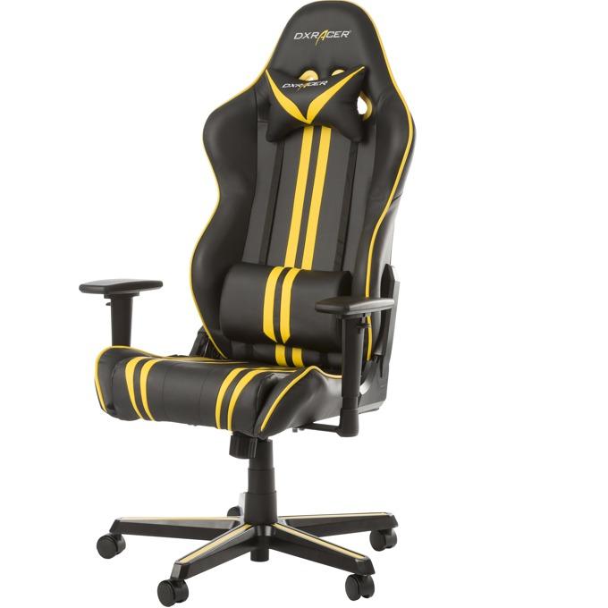 Геймърски стол DXRacer Racing, черен/жълт image