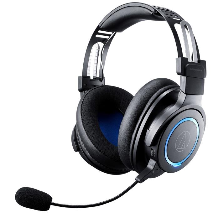 Слушалки Аudio-Тechnica ATH-G1WL, безжични, микрофон, гейминг, черни image