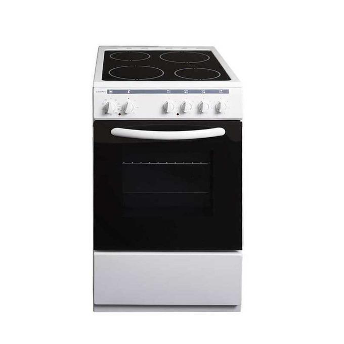 Готварска печка Crown 50C3MA, клас A, 4 нагревателни зони, 48 л. вместимост на фурната, 8 функции на фурната, бяла  image