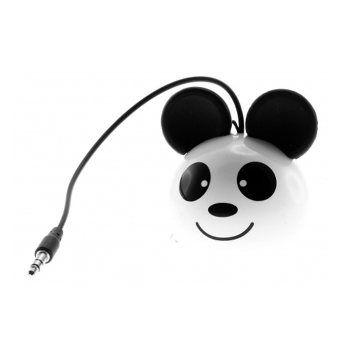 Тонколона KitSound Mini Buddy Pan, 1.0, 2W, USB, бяла, вградена Li-Ion батерия image