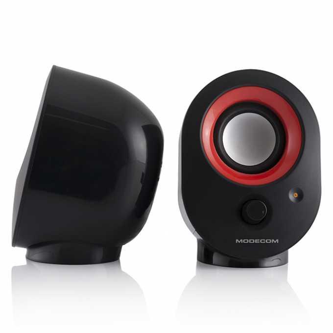 Тонколони Modecom MC-XS05, 2.0, 4W, USB, черно и червено image