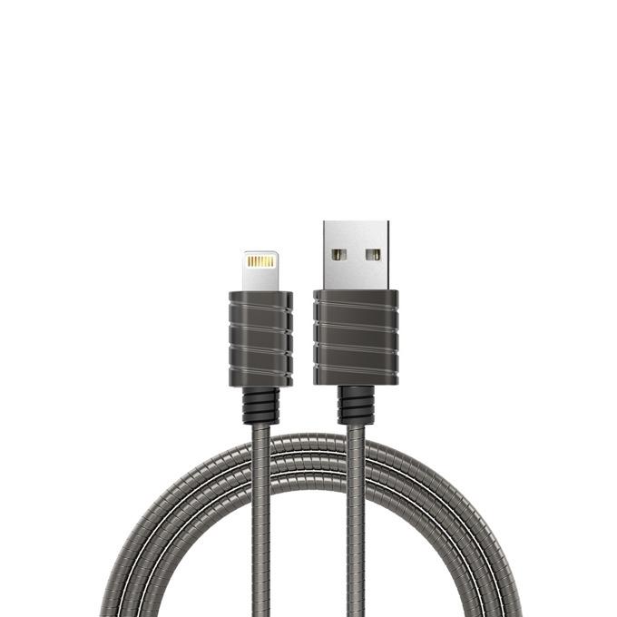 Кабел iWalk, USB(м) към Lightning(м), 1m, черен image