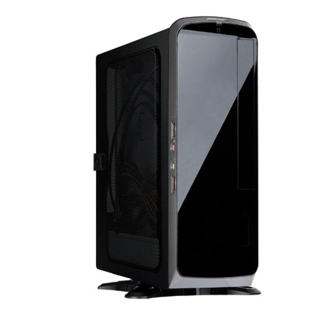 Кутия In-Win, BQ660, Mini-ITX, черен със сива лента, захранване 150W, подходяща за закачване към монитор. image