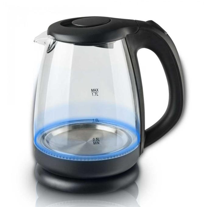 Електрическа кана Sapir SP 1230 J, 1.7 литра, 2200W, защита против напълно извиране на водата, въртяща се основа, черна image