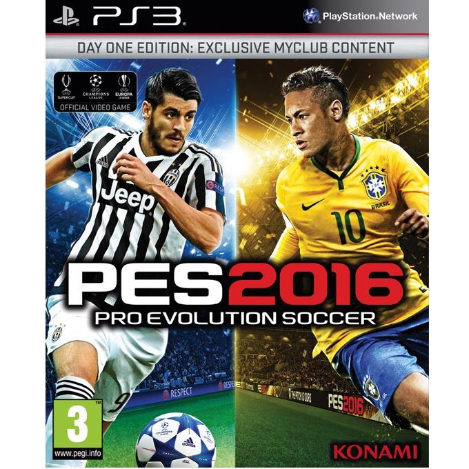 Игра за конзола Pro Evolution Soccer 2016 Day 1 Edition, Бонусите включват: 1x Играч на годината, 1x Играч за 10 мача, 10,000 GP x 10 седмици, фигурка на Neymar JR, за PS3 image