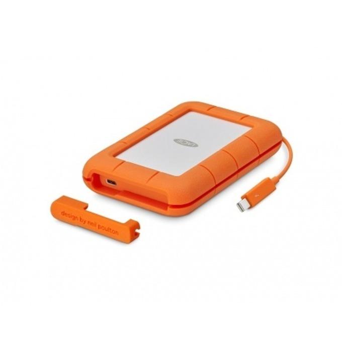 """Твърд диск 2TB Lacie Rugged (оранжев), външен, 2.5"""" (6.35 cm), Thunderbolt image"""