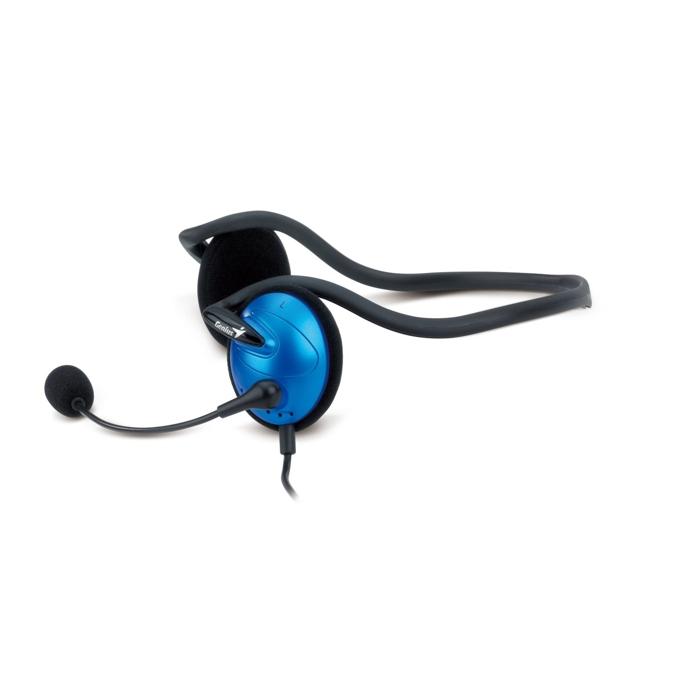 Слушалки Genius HS-300A, сини, микрофон image