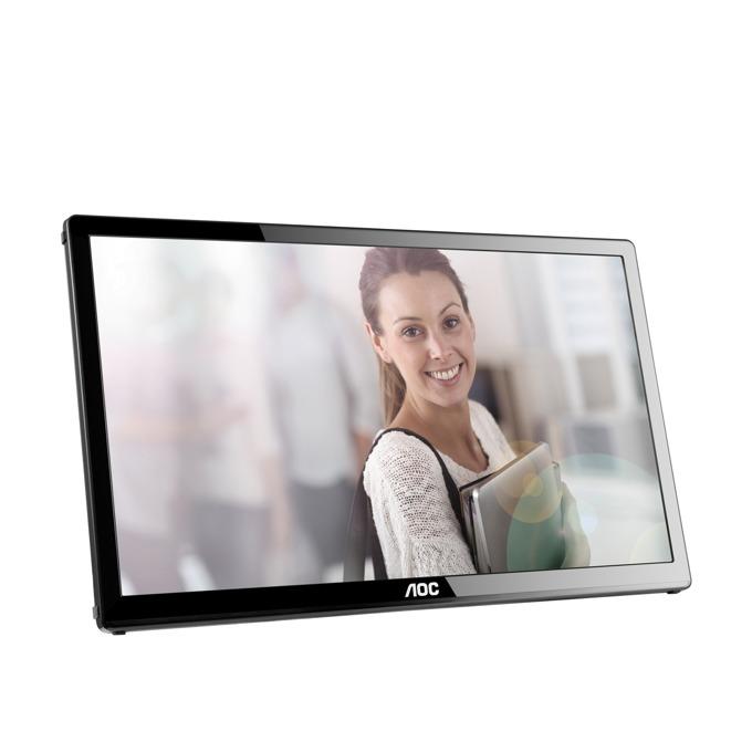 """Монитор AOC E1759FWU, 17"""" (43.18 см) TN панел, HD+, 10 ms, 20 000 000:1, 220 cd/m2, USB image"""