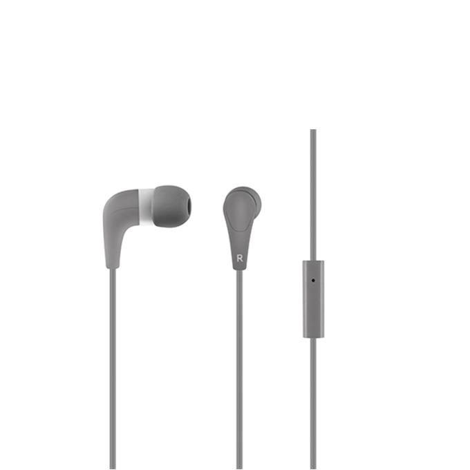 """Слушалки Acme HE15G, тип """"тапи"""", микрофон, 20 Hz – 20 kHz, 1.30m кабел, позлатен конектор, сиви image"""