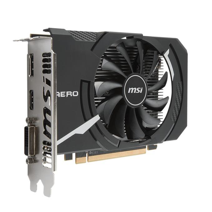 Видео карта AMD Radeon RX 560, 4GB, MSI AERO ITX OC, PCI-E 3.0, GDDR5, 128 bit, DisplayPort, HDMI, DVI image