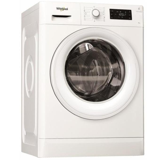 Перална машина Whirlpool FWG 81284W EU, клас А+++, 8кг. капацитет, 1200 оборота в минута, свободностояща, 60 cm. ширина, бяла image