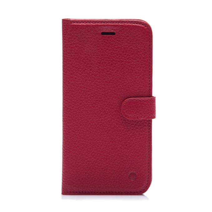 Калъф за Apple iPhone 7/8, Flip Wallet, кожа, Beyza Booklet Folio, червен image