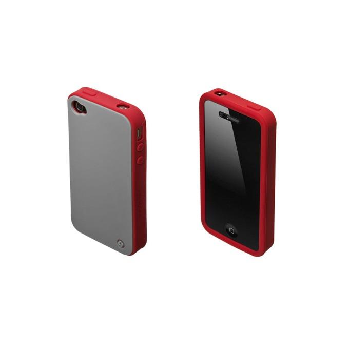 Страничен протектор с гръб Samsonite Bi-tone iPhone 4S, сив/червен image