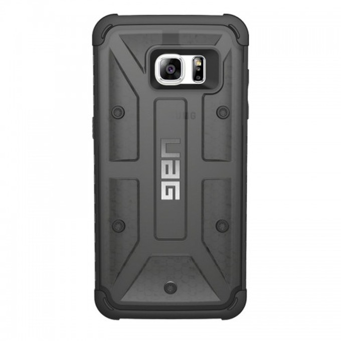 Хибриден кейс Urban Armor Gear Scout, Galaxy S7 Edge, удароустойчив, тъмнопрозрачен-черен image