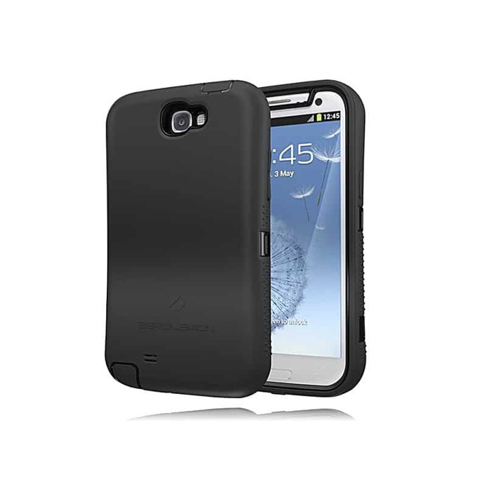 Протектор Zerolemon за Samsung Galaxy Note 3, черен със сив кант image