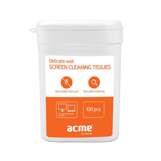 Mокри кърпи за екрани Acme CL02, 100 броя image