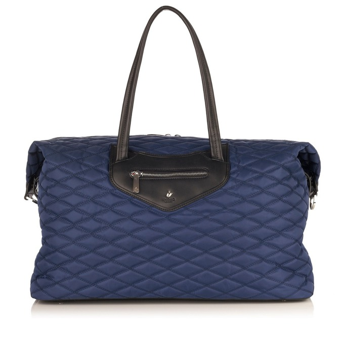 "Чанта за лаптоп Knomo Huntley Weekender Bag, 15.4""(39.3 cm), кожена, тъмносин image"