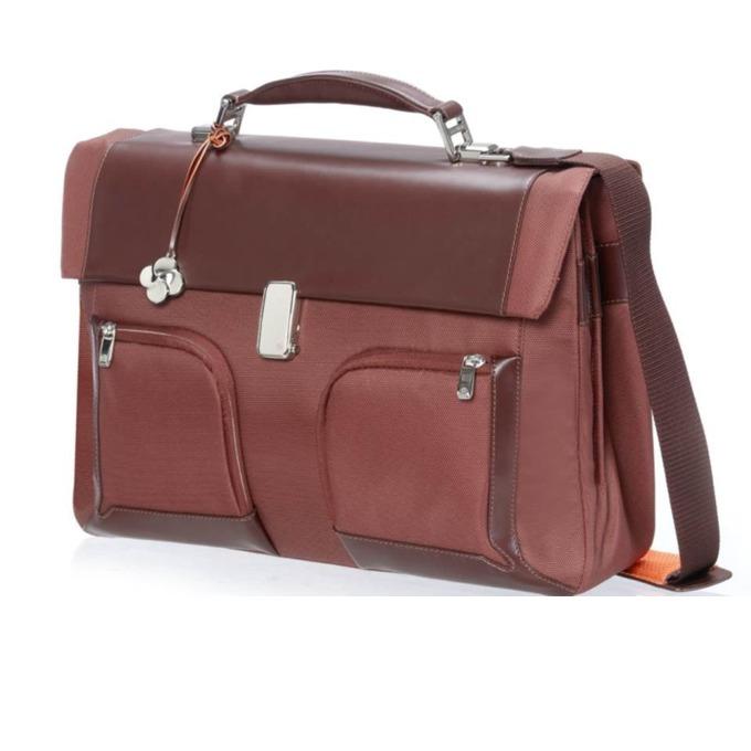 "Чанта за лаптоп Samsonite S-Teem-Briefcase 3 Gussets до 16.4""(41.66 cm), кафяв image"