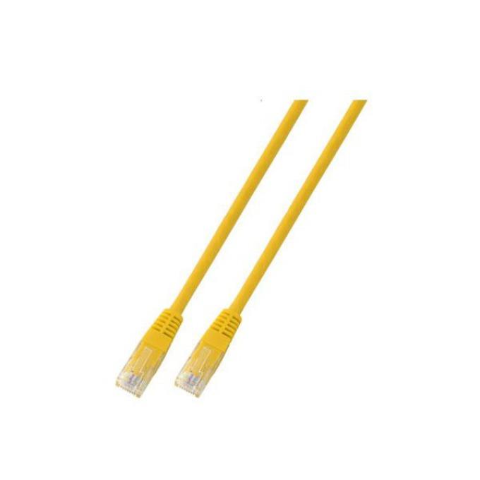 Пач кабел UTP EFB Elektronik, 2m, Cat 5E, пач-кабел, жълт image