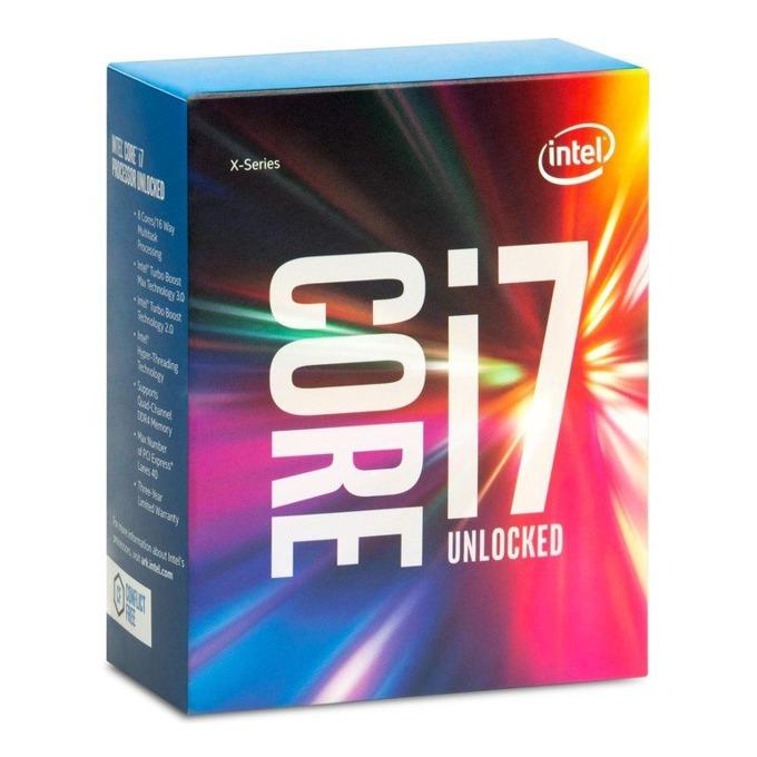 Процесор Intel Core i7-6800K шест-ядрен (3.4-3.8GHz, 15MB Cache, No GPU, LGA2011-3) BOX, без охлаждане image