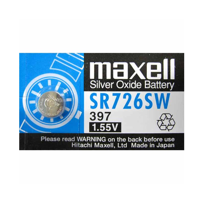 Батерия сребърна Maxell SR, SR726SW, 1.55V, 1 бр. image
