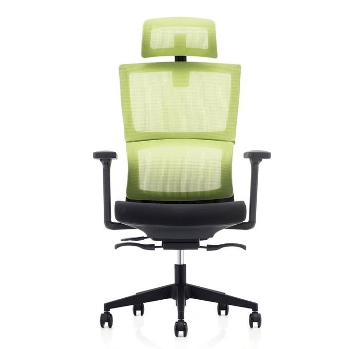 Президентски стол RFG Grove (ON4010200118), дамаска, 120 кг. максимално натоварване, газов амортисьор, зелен/черен image