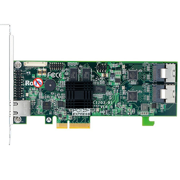RAID контролер Areca ARC-1203-8I, PCIe 2.0 към 2x Mini-SAS SFF-8087, SATA/SAS 6Gb/s, 2 портов, 512MB RAM, поддържа RAID level 0, 1, 10(1E), 3, 5, 6, 30, 50, 60, Single Disk or JBOD image