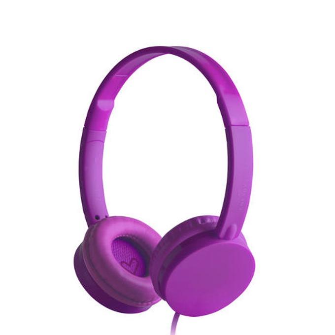 Слушалки Energy Colors Grape, микрофон, лилави image