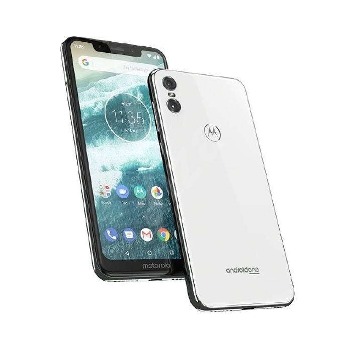 "Motorola One (бял), поддържа 2 sim карти, 5.9"" (14.98 cm) HD дисплей, осемядрен Kryo 260 1.8 GHz, 4GB RAM, 64GB Flash памет (+ microSD слот), 13.0 MPix + 2 MPix и 8 MPix задна, Android, 205g image"
