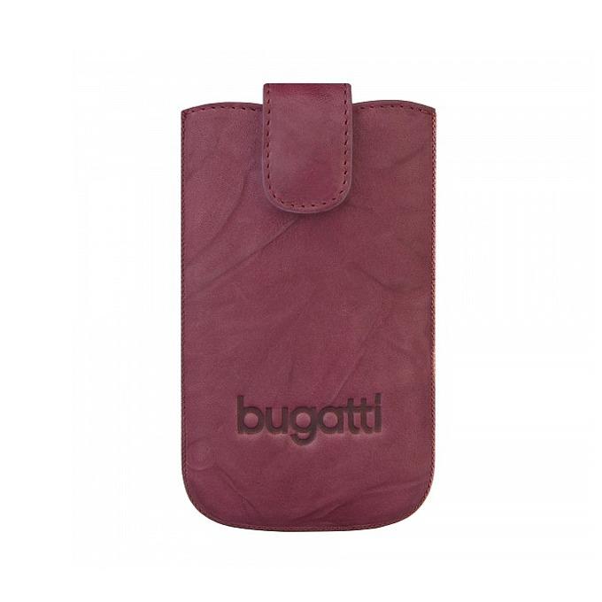 Калъф за Apple iPhone 5/5S/5C, джоб, естествена кожа, Bugatti Unique Leather ML, лилав image