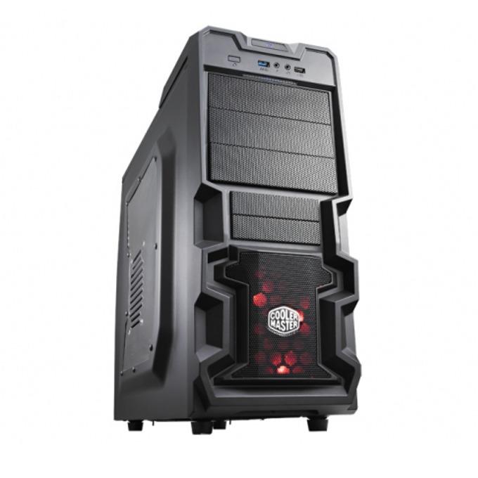 Кутия Cooler Master K380, Micro-ATX/ATX, 1x USB 3.0, черна, без захранване image