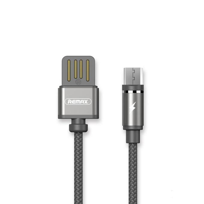 Кабел Remax Gravity RC-095a, от USB A(м) към USB Micro B(м), 1m, сив, магнитен image