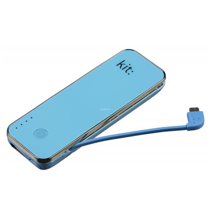 Bъншна батерия/power bank KitSound, 4500mAh, с micro SD Card Reader, micro USB, синя image