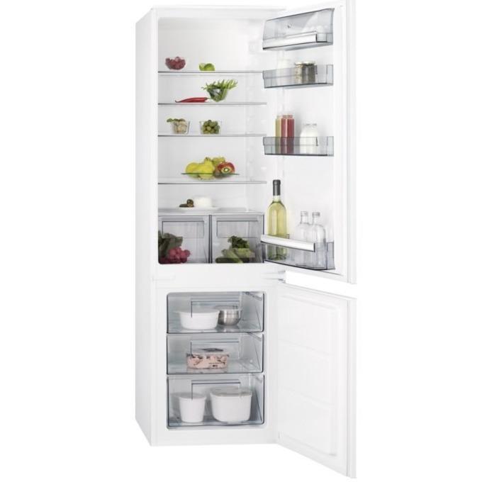 Хладилник с фризер AEG SCB 51811LS, клас A+, 268 л. общ обем, за вграждане, 291 kWh/годишно, закалено стъкло, LED осветление, бял image