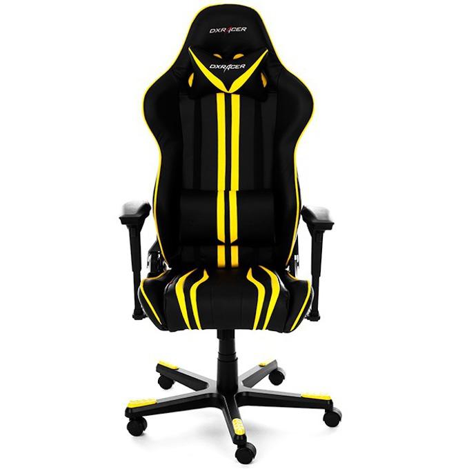 Геймърски стол DXRacer RACING - черен/жълт image