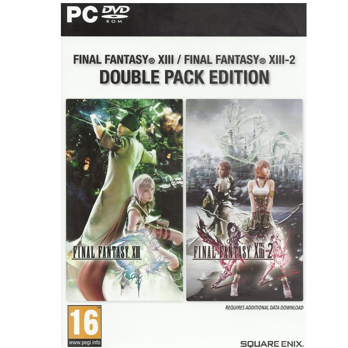Игра Final Fantasy XIII Double Pack (съдържа Final Fantasy XIII и Final Fantasy XIII-2), за PC image
