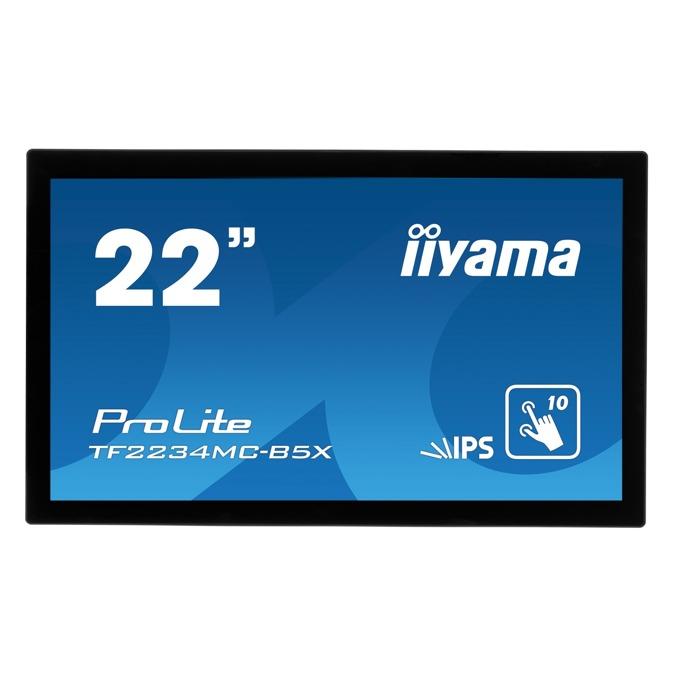 "Монитор Iiyama ProLite TF2234MC-B5X, 21.5"" (54.61 cm), IPS панел, FHD, 8ms, 1000:1, 225cd/m2, HDMI, VGA image"