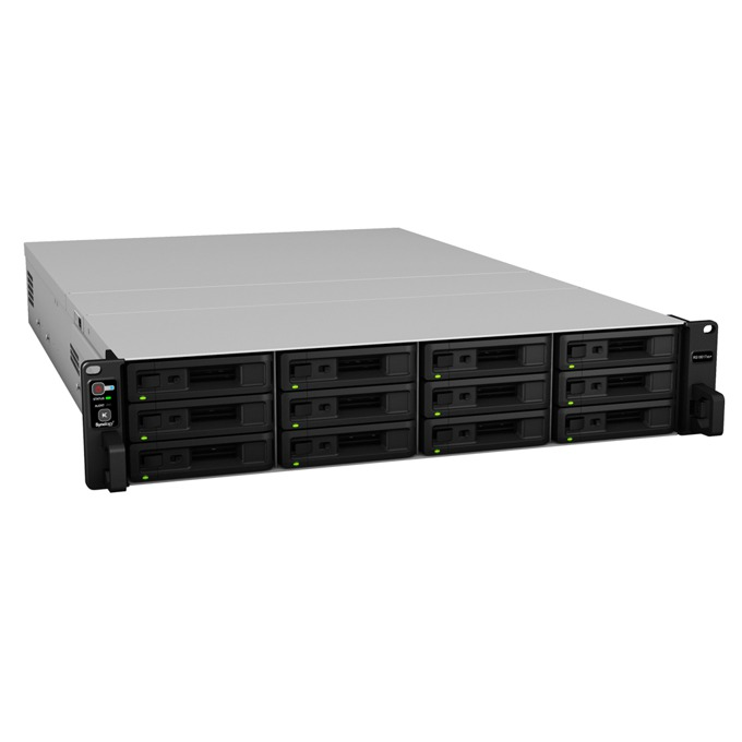 "Synology RackStation RS18017xs+, шестядрен Intel Xeon D-1531 2.20/2.70GHz, без твърд диск (12x SATA/SAS 2.5""/3.5"" HDD/SSD), 16GB DDR4 ECC RAM, 4x Lan1000, 2x Lan 10Gb, 2x USB 3.0, 2x Expansion port image"