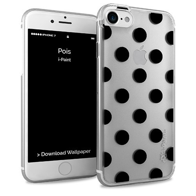 Калъф за Apple iPhone 8, термополиуретанов, iPaint Glamour Pois 161002, прозрачен image