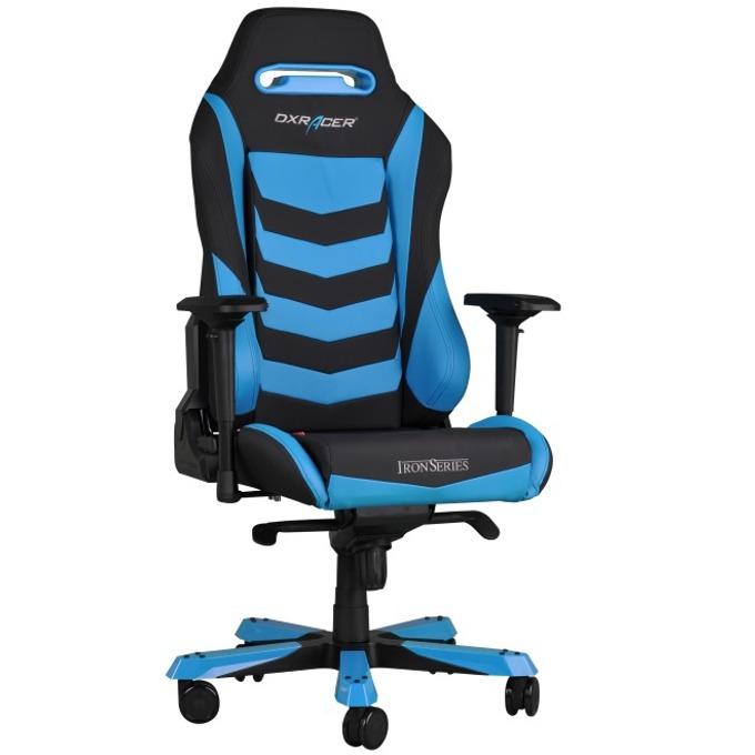 Геймърски стол DXRacer Iron OH/IS166/NB, черен/син image
