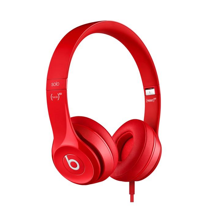 Слушалки Beats by Dre Solo HD 2.0 On Ear, червени, микрофон, сгъваеми, оптимизирани за iPhone/iPad/iPod image