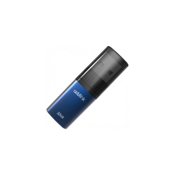 Памет 32GB USB Flash Drive, Addlink U15, USB 2.0, синя image