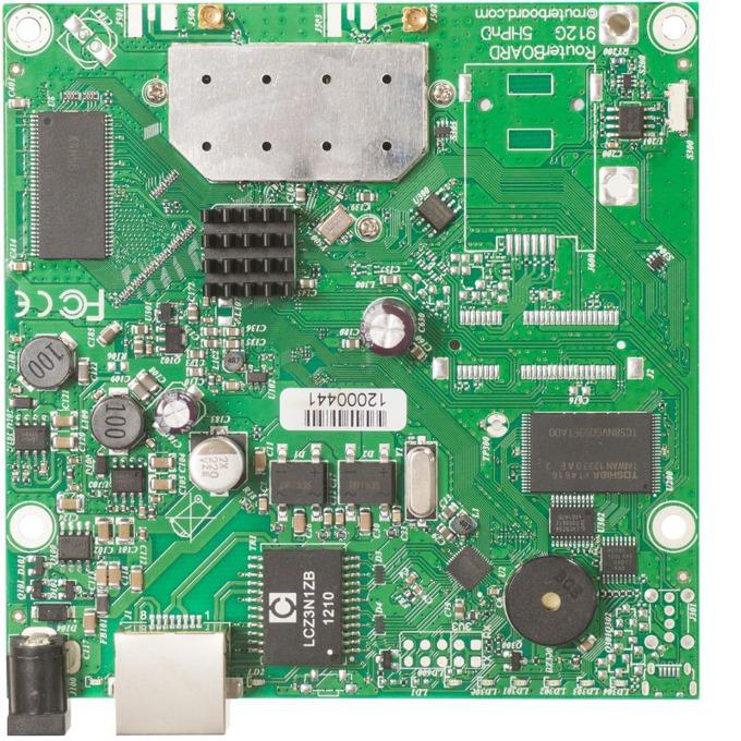 Рутер Mikrotik RB911G-5HPnD, 5GHz, Wireless N, 1x WAN 1000, PoE, 64MB RAM, 128MB Flash памет image