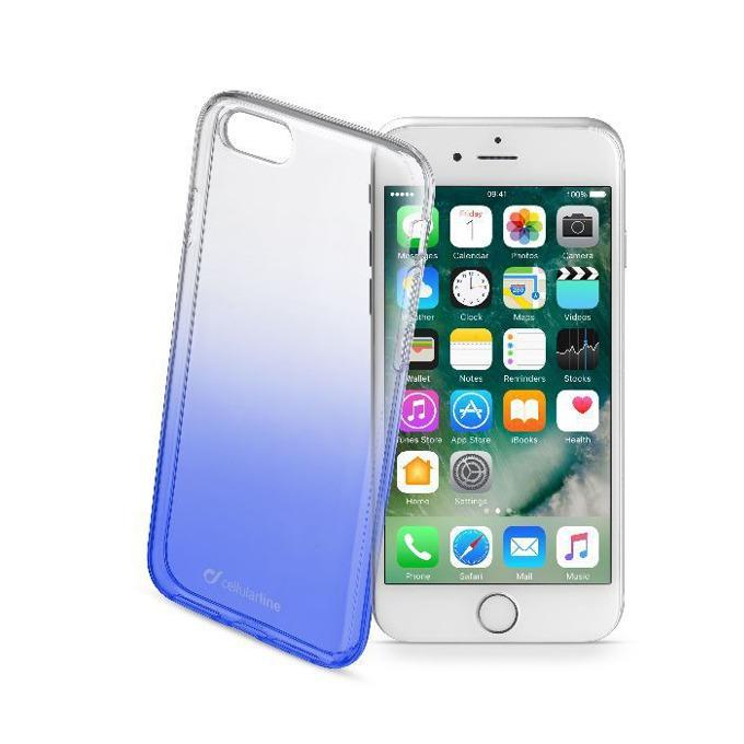 Силиконов протектор Cellular Line за iPhone 7, бял/син image