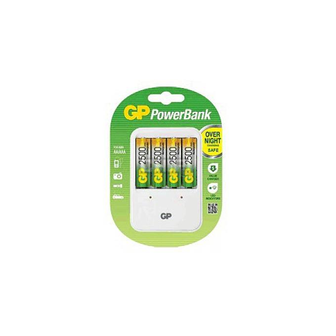 Зарядно у-во GP PB420GS250, за батерии AA/AAA, 4x AA (2500mAh) батерии image